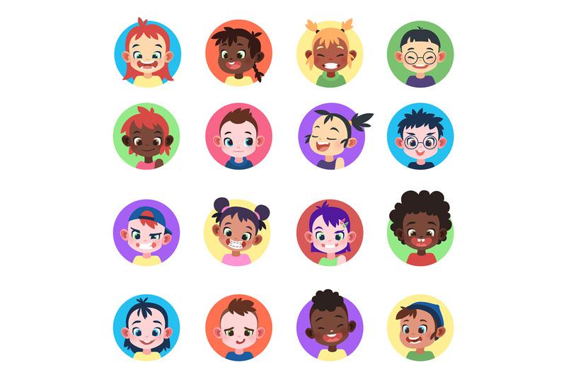 kids-avatar-faces-ethnic-cute-boys-girls-avatars-head-child-profile-p