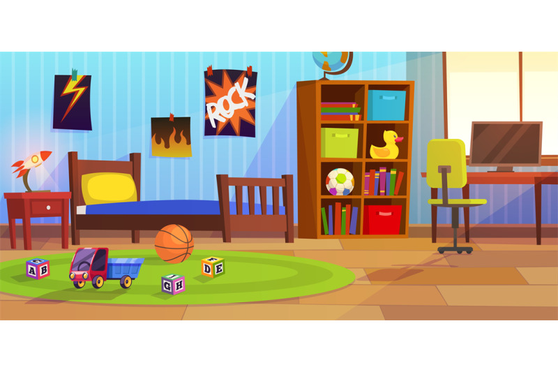 Room boy childrens interior bedroom kid child boy - Raising a child in a one bedroom apartment ...