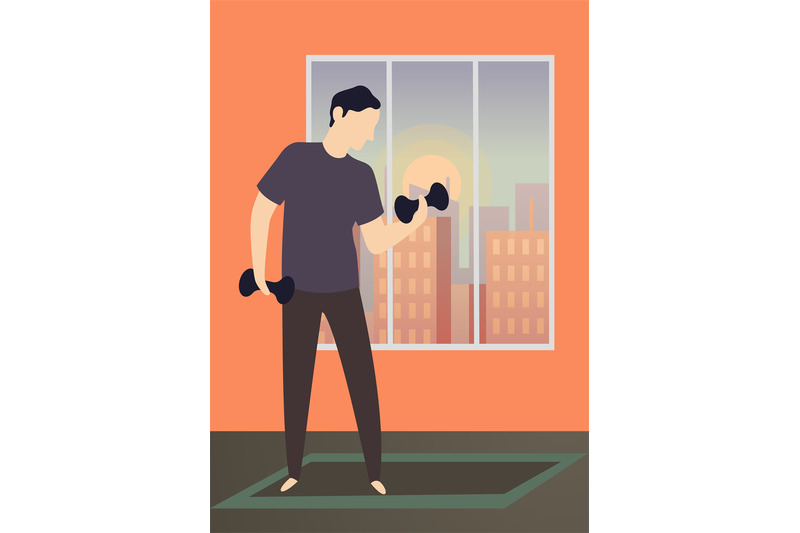 morning-activity-home-training-exercises-and-healthy-gym-of-happy-man