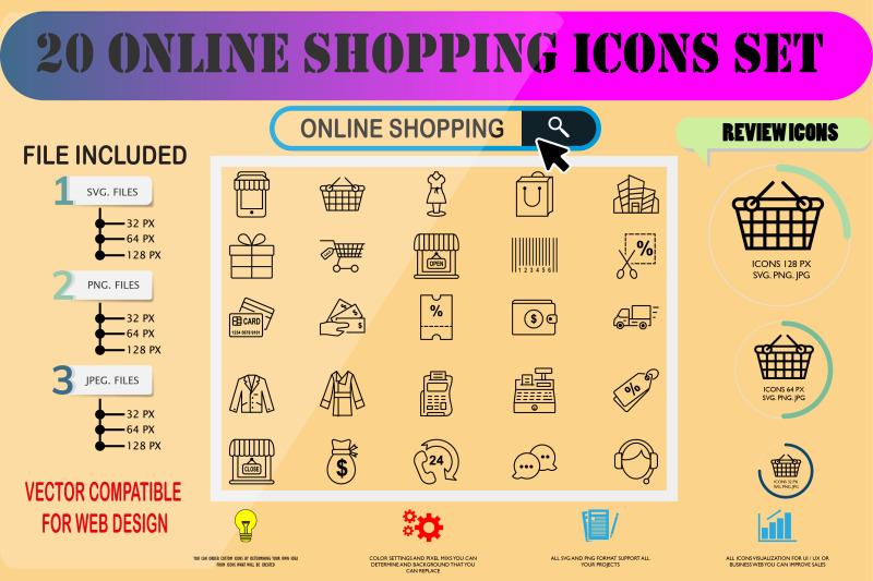 online-shopping-icons-set