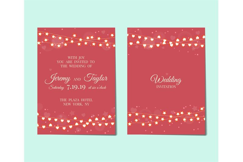 wedding-invitation-with-light-garlands