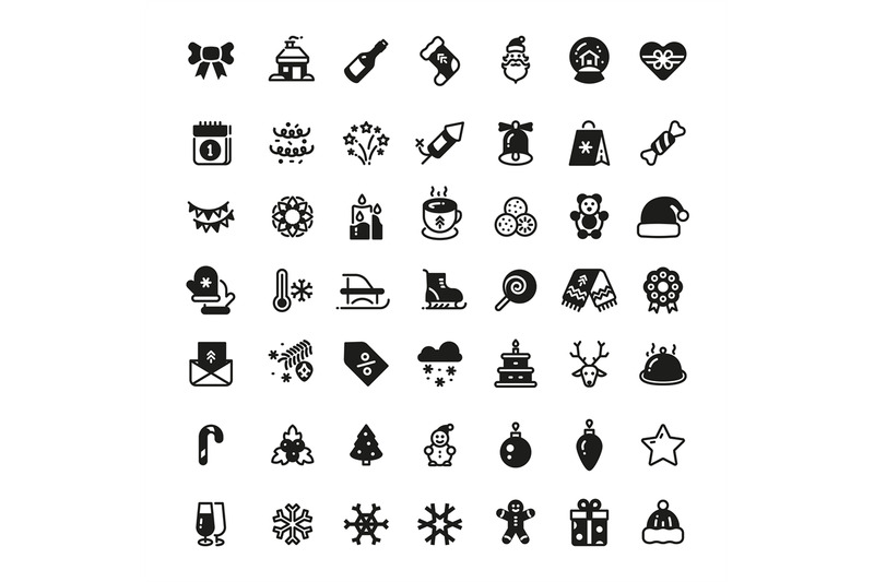 christmas-holiday-vector-symbols-winter-xmas-silhouette-black-icons-i