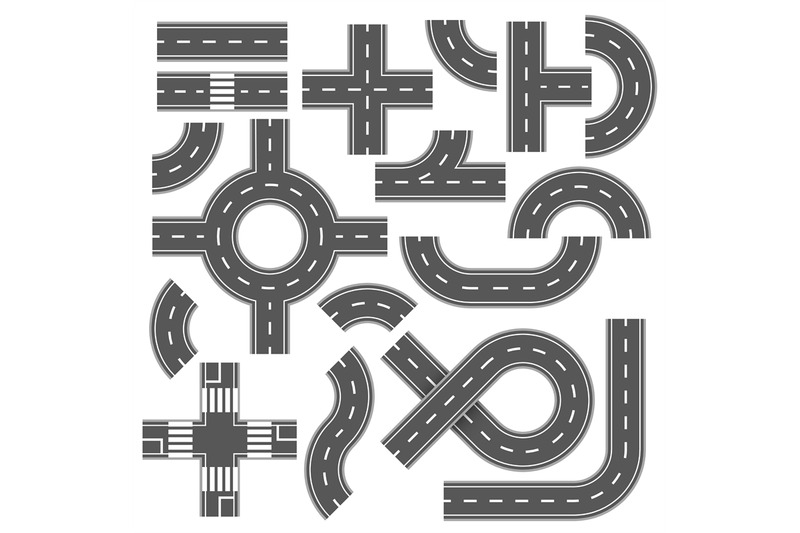 street-and-road-with-footpaths-and-crossroads-vector-elements-for-cit
