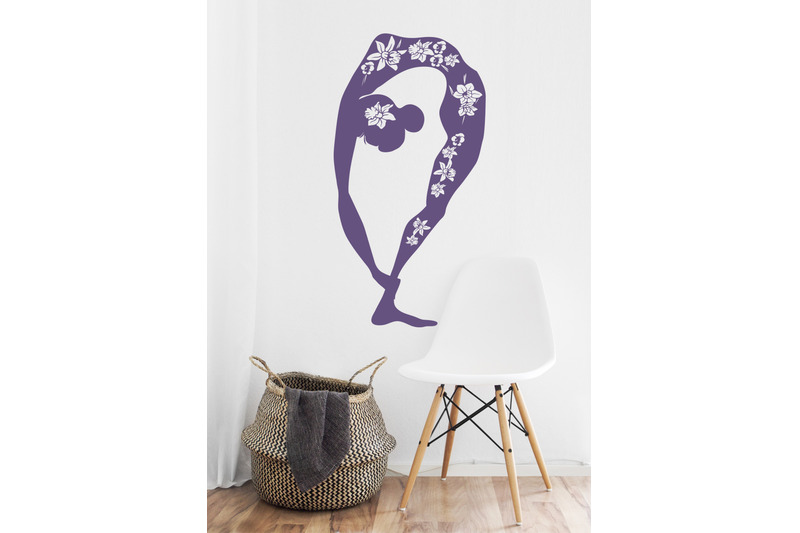 woman-practicing-yoga-fitness-black-silhouette-with-floral-motives-a