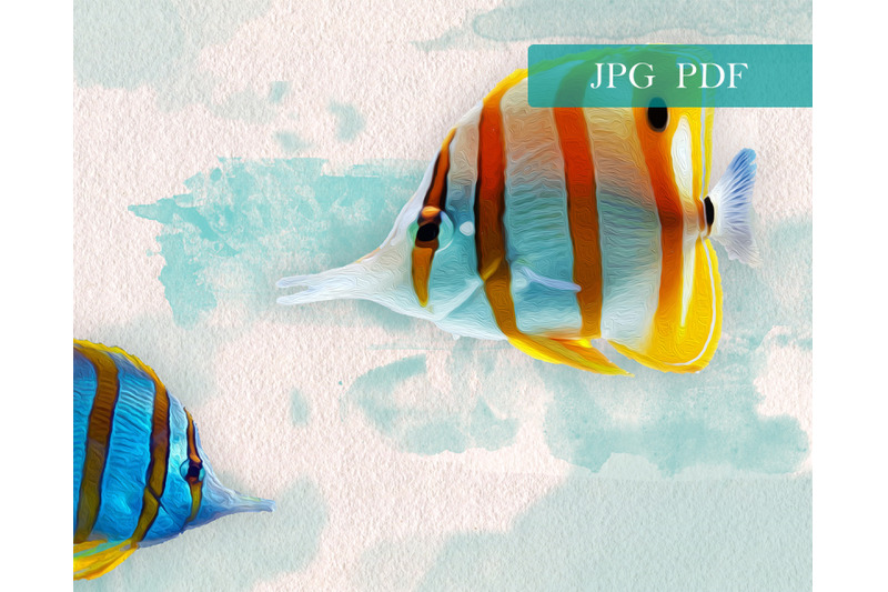 ocean-sea-fish-in-oil-and-watercolor-paint-style-illustration-of-two