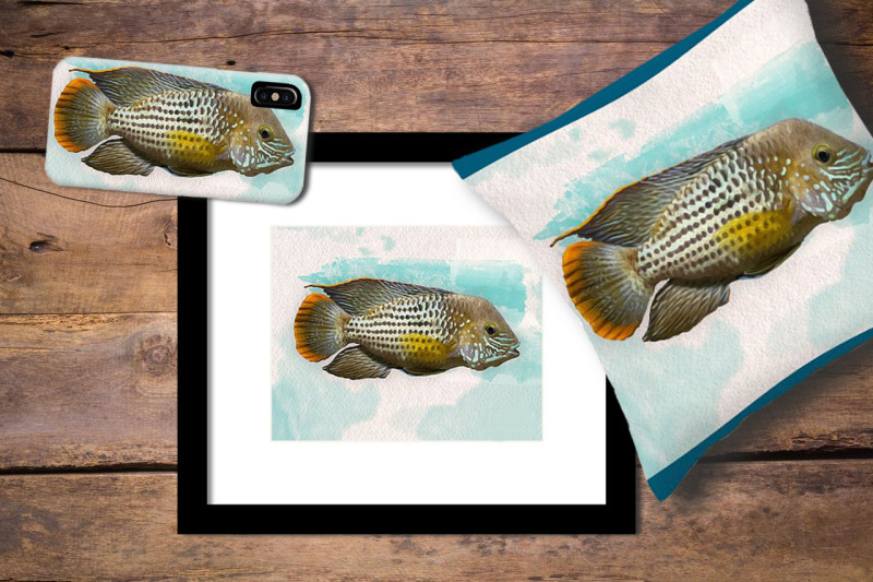 ocean-sea-fish-in-oil-and-watercolor-paint-style-illustration-of-a-bi