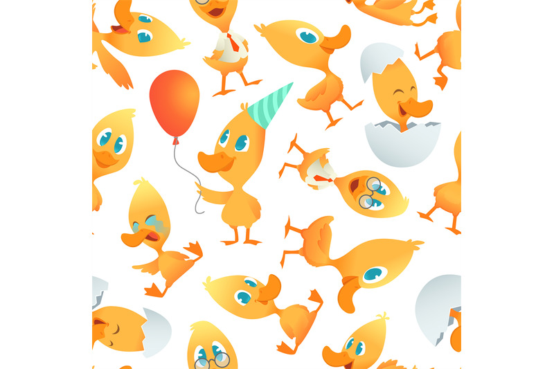 cartoon-ducks-pattern-seamless-background-with-cartoon-funny-birds