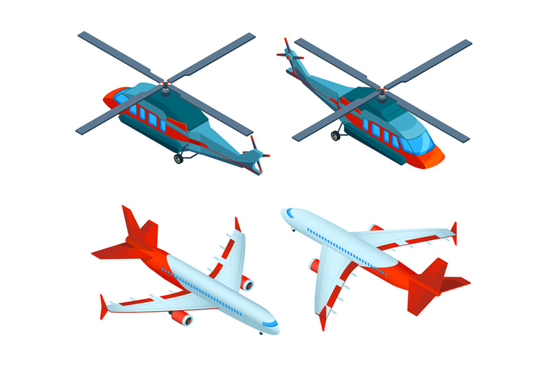 helicopters-isometric-3d-pictures-of-avia-transport-airplanes-and-he