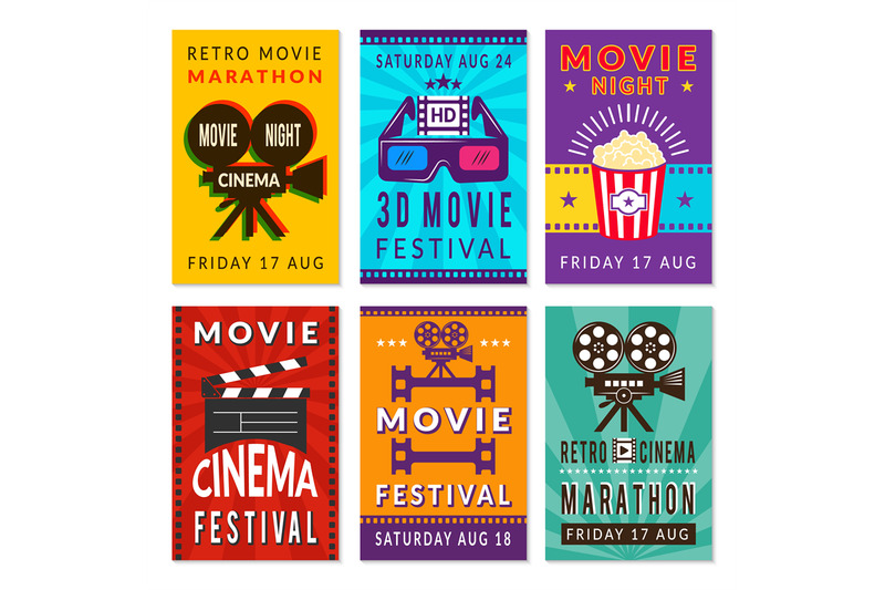 template-of-cinema-cards-vector-designs-of-various-cinema-cards