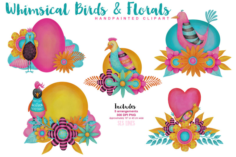 colorful-whimsical-birds-amp-flowers