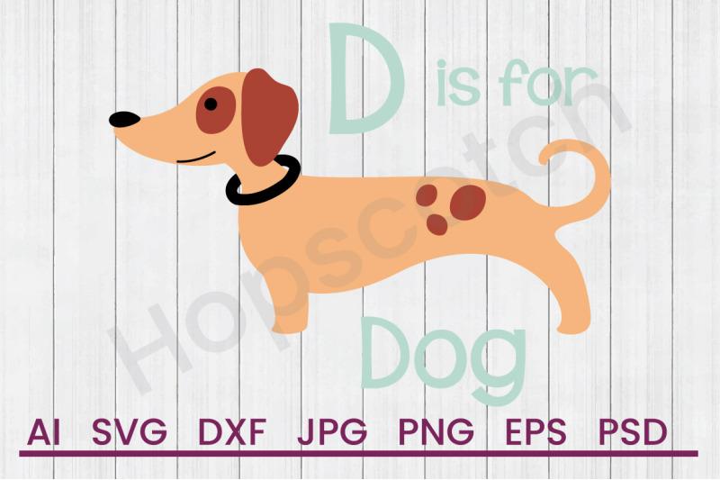d-for-dog-svg-file-dxf-file