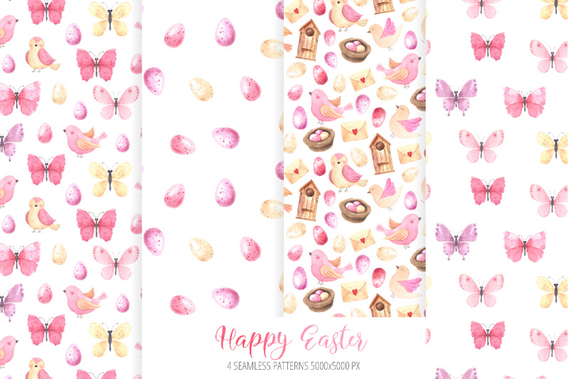watercolor-happy-easter-collection