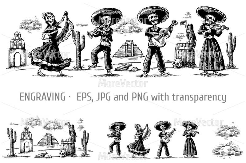 the-skeleton-in-the-mexican-national-costumes-dance-sing-play-the-guitar-violin-trumpet