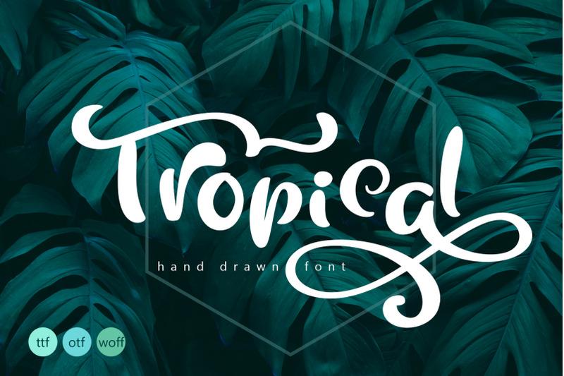 tropical-summer-font