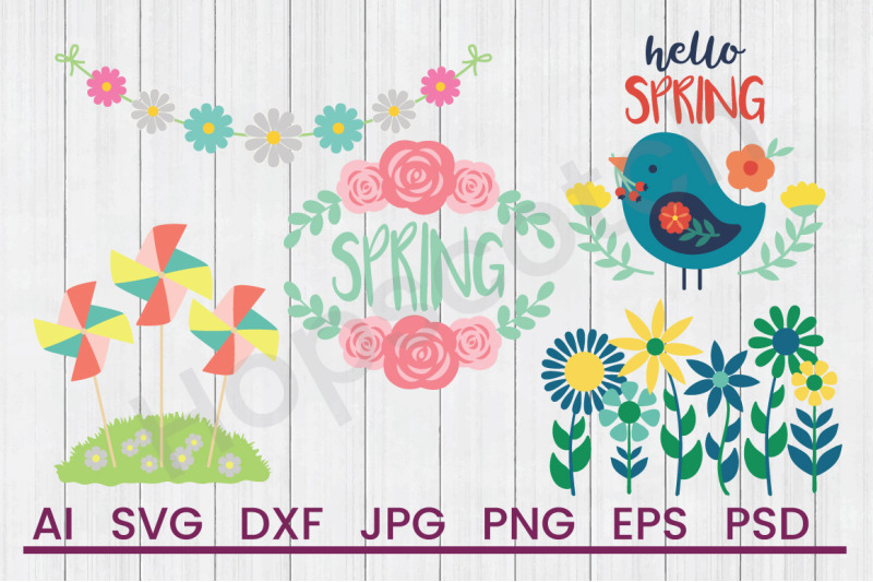 spring-bundle-svg-files-dxf-files-cuttable-files