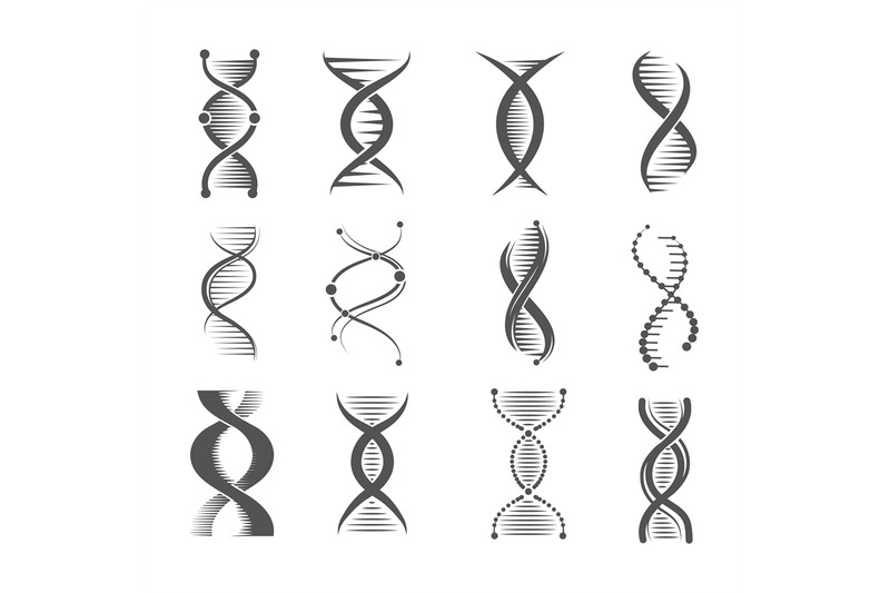 dna-spiral-icons-helix-human-technology-research-molecule-and-chromos