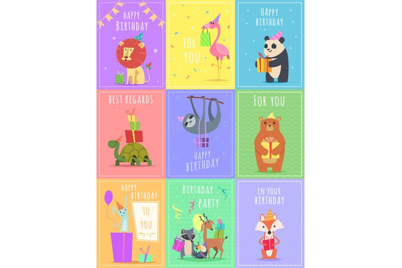 birthday-cards-with-animals-wildlife-zebra-turtle-lion-and-monkey-cha