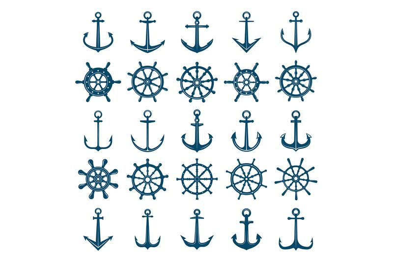wheels-ship-anchors-icon-steering-wheels-boat-and-ship-anchors-marine