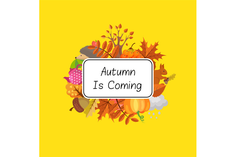 vector-cartoon-autumn-elements-set-and-leaves