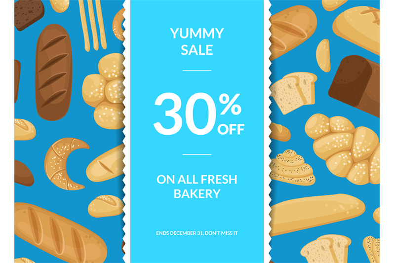 vector-cartoon-bakery-elements-sale-poster-background-with-ribbons-and