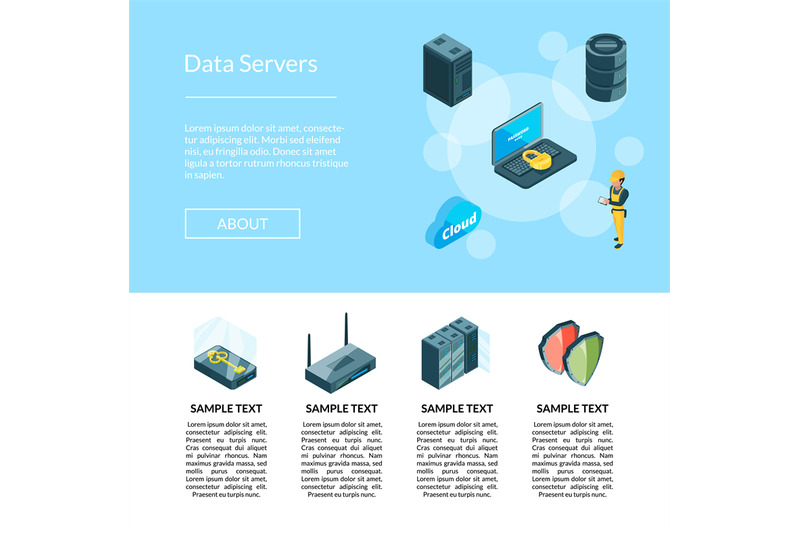 vector-electronic-system-of-data-center-icons-page-illustration