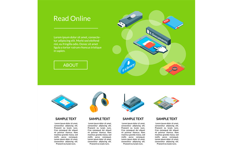 vector-isometric-online-education-icons-template-illustration