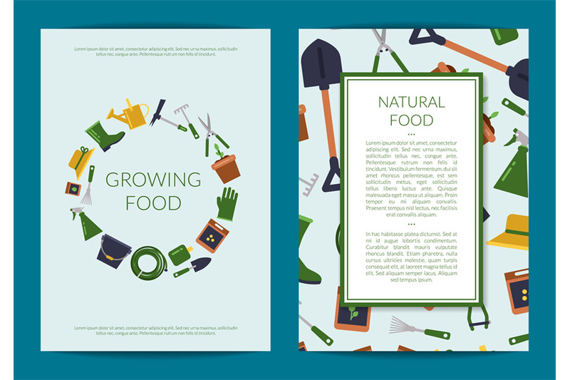 vector-flat-gardening-icons-card-or-flyer