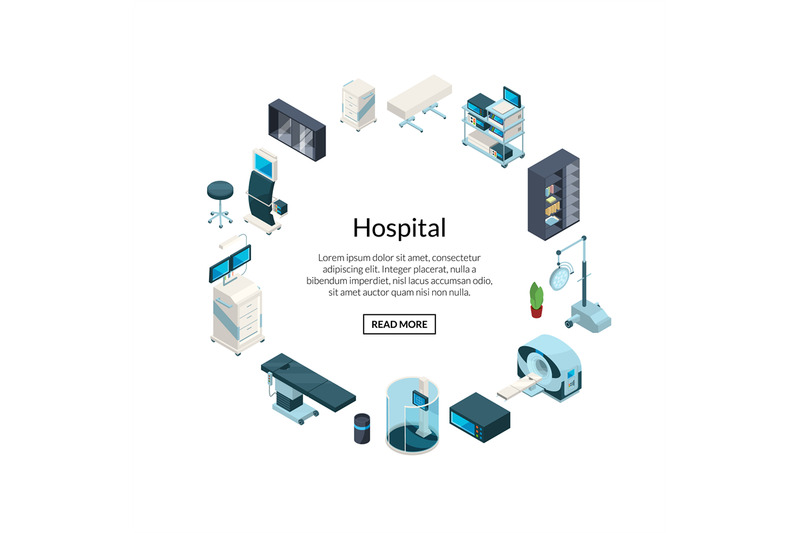 vector-isometric-hospital-icons-in-circle-shape