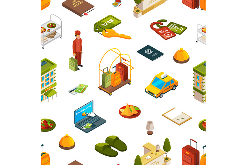 vector-isometric-hotel-icons-pattern-or-background-illustration