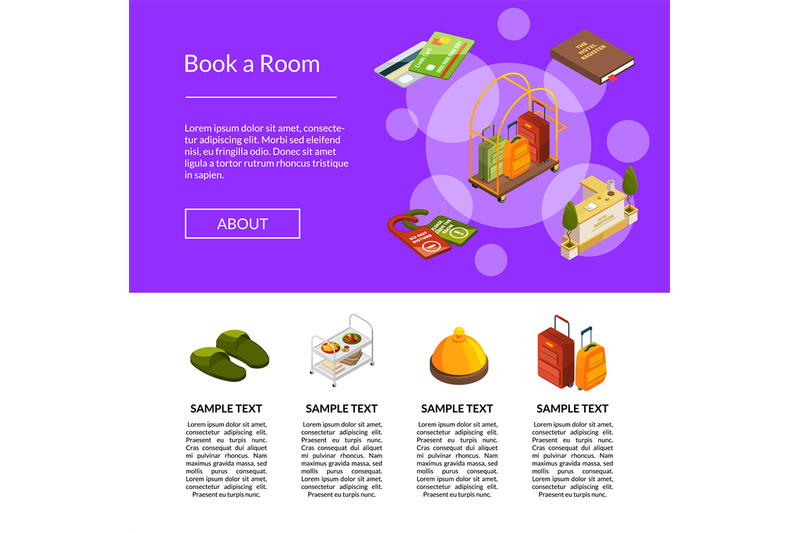 vector-isometric-hotel-icons-template