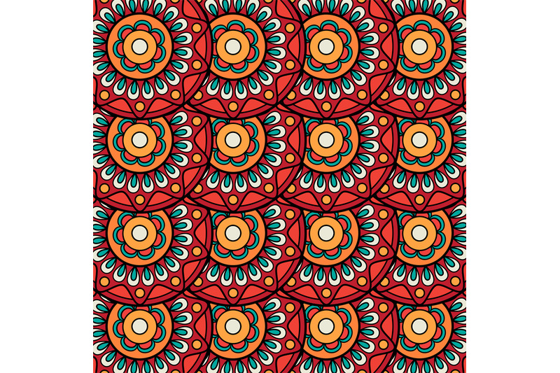 ethnic-boho-floral-rosettes-seamless-pattern