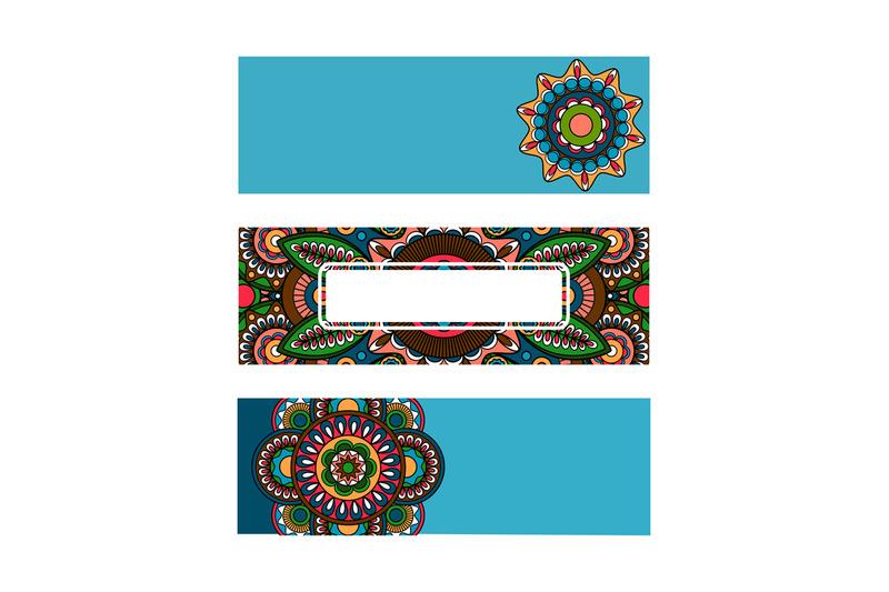 horizontal-banner-mandala-ornament-template