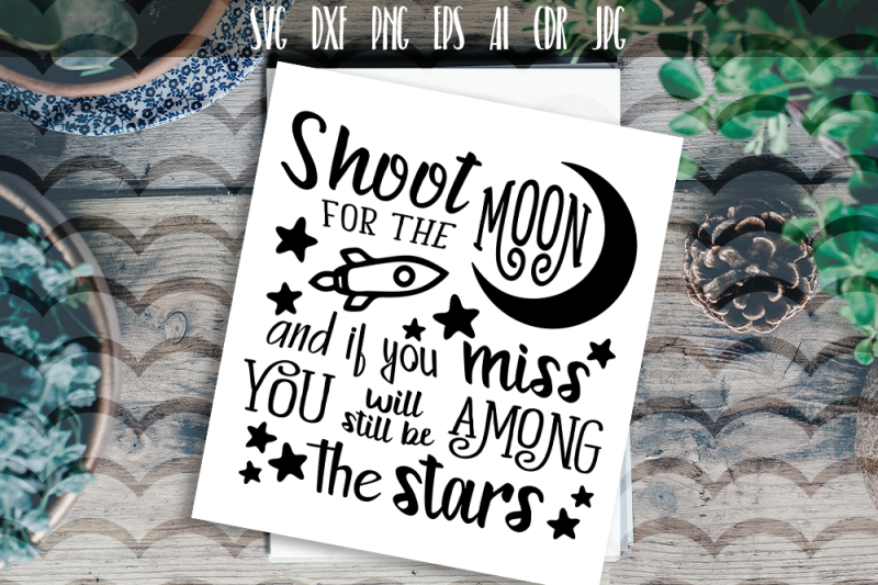 shoot-for-the-moon-svg-vector-typography