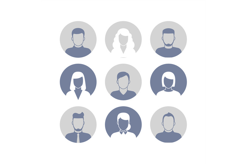 people-profile-silhouettes-icons