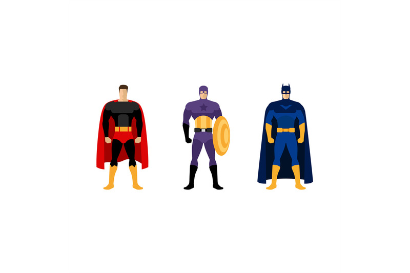 superhero-costumes-isolated-vector-set