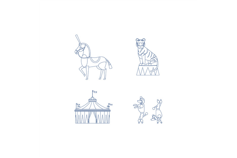 circus-line-art-icons
