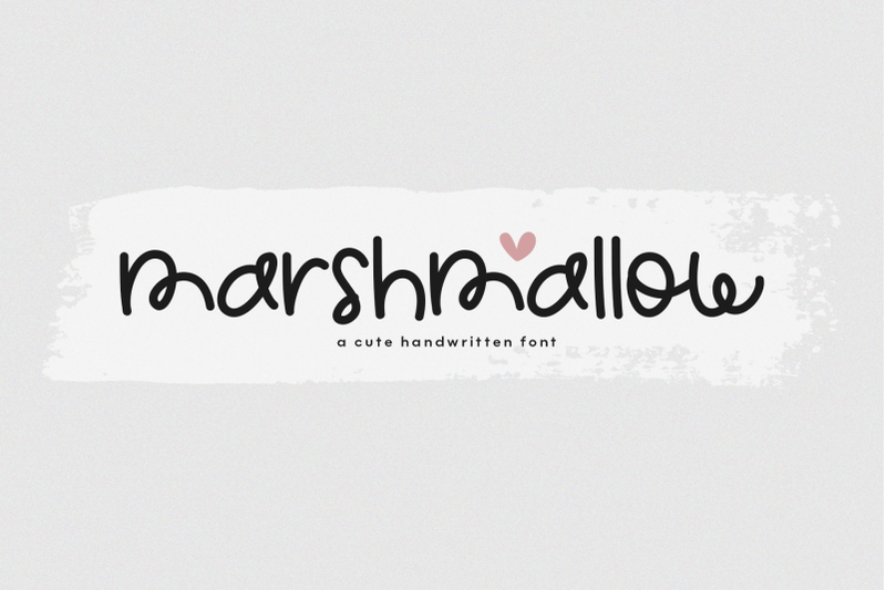 marshmallow-a-cute-handwritten-font