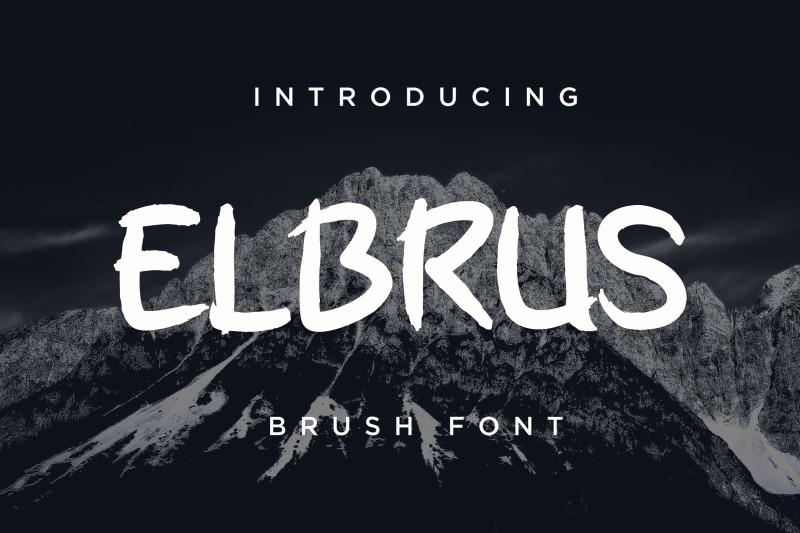 elbrus-brush-font