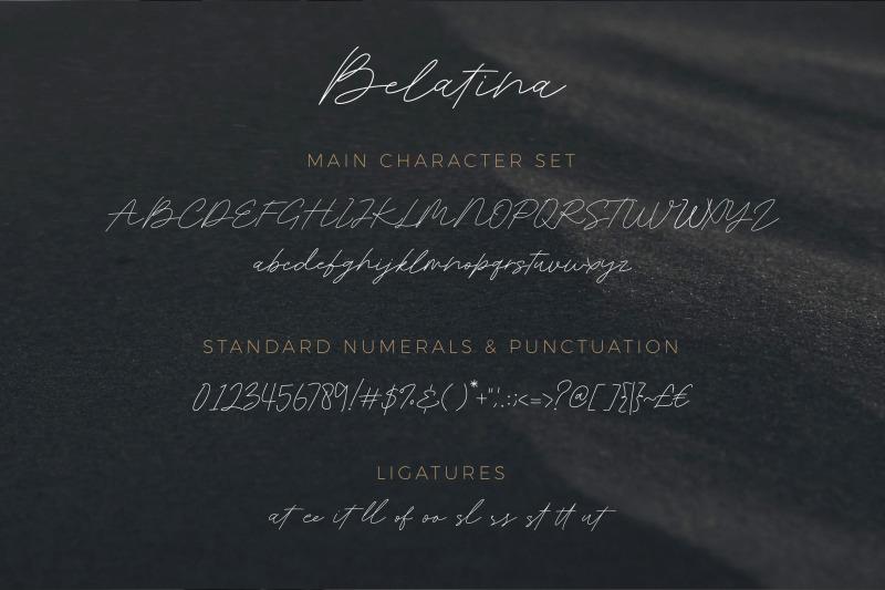belatina-a-classic-signature-font