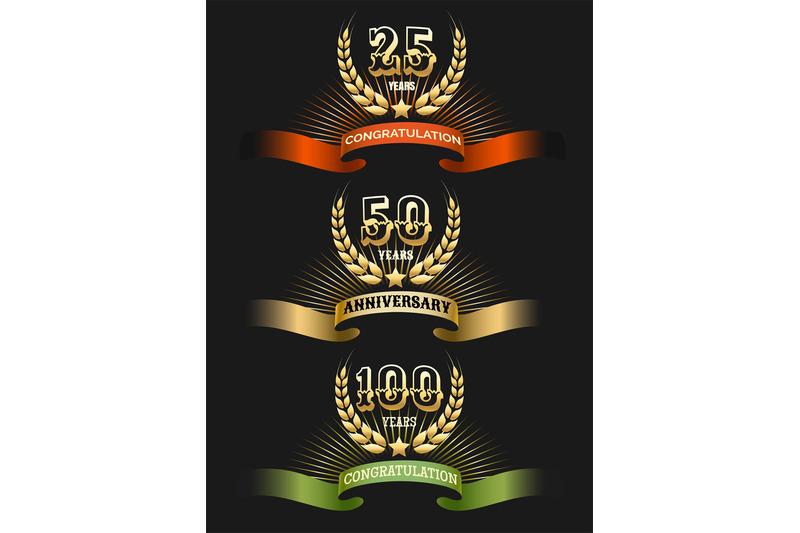 anniversary-golden-logo-set
