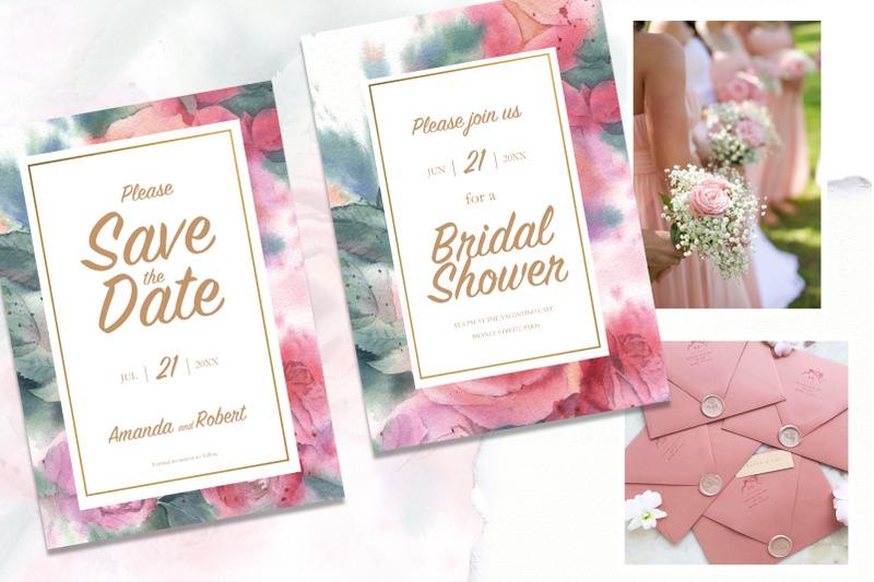 wedding-set-coral-roses