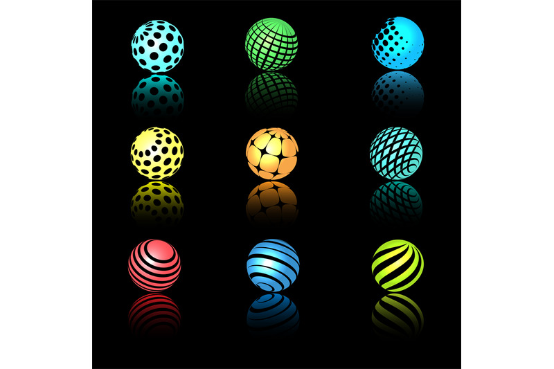 sphere-3d-objects-with-texture