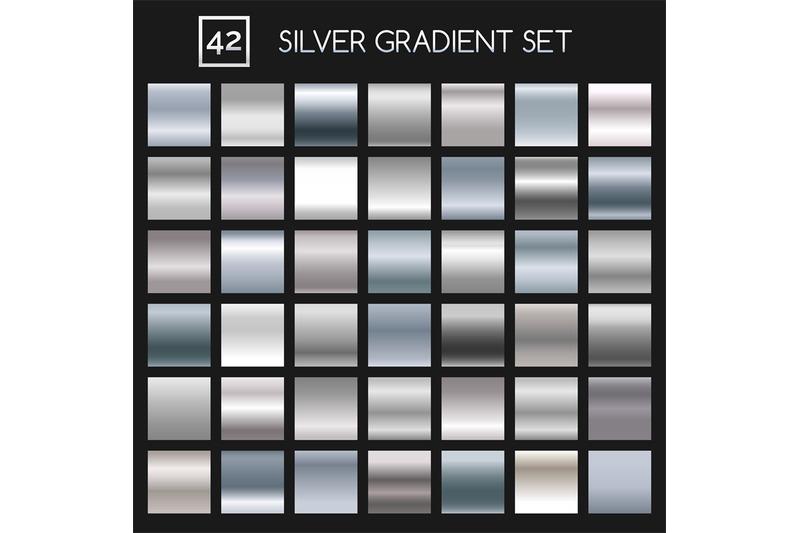 silver-metallic-gradient-set