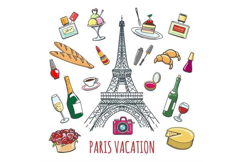 french-country-vacation-doodle-elements