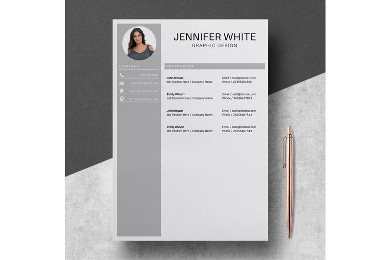 professional-resume-template-resume-with-photo-jennifer