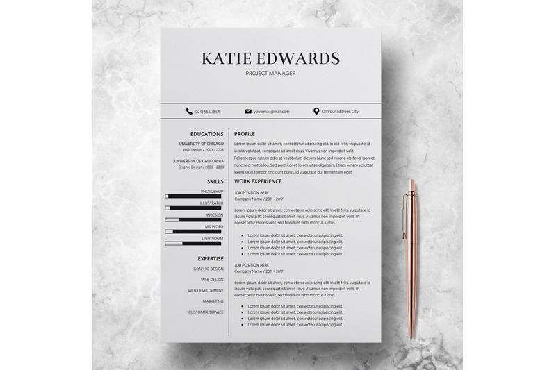 teacher-resume-template-cv-template-word-katie