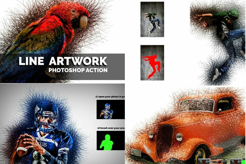 line-artwork-photoshop-action