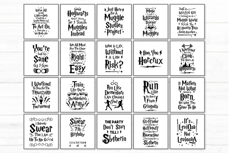 Harry Potter Quotes And Illustrations By Cuttingsvg