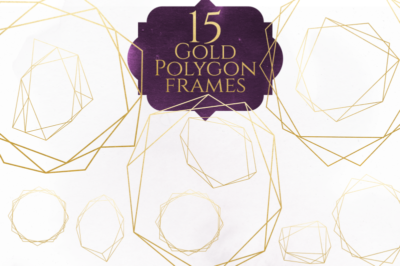 gold-polygon-frames