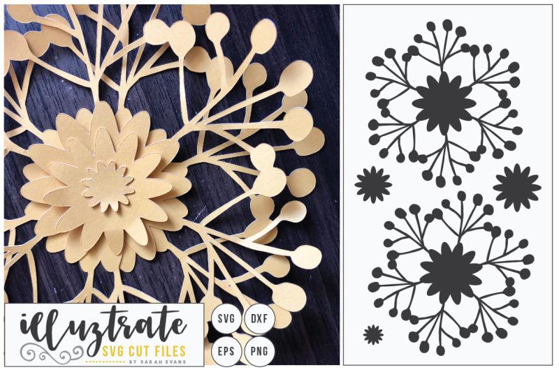 paper-cutting-flower-svg-cut-file-diy-3d-flower-cut-file-dxf-cut